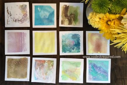 preschool homeschool process art Mother's Day cards