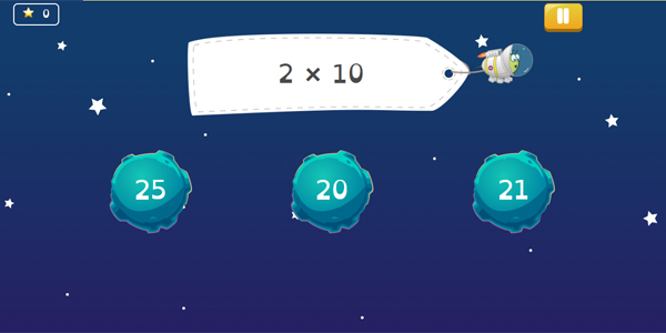 Math Shed multiplication game