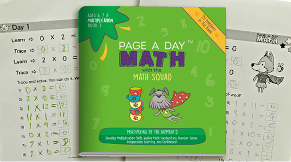 Page a Day Math multiplication samples