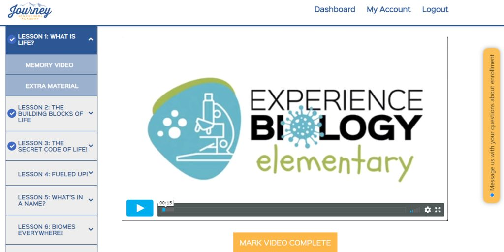 experience biology: elementary screenshot