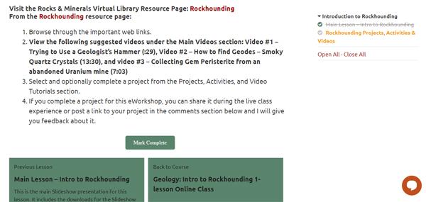 rockhounding homeschool class